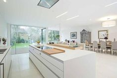 open plan kitchen #white #clean