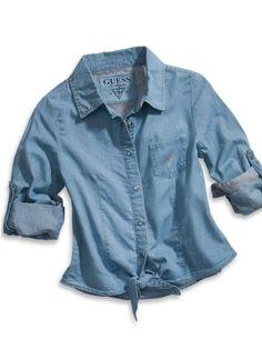 GUESS Kids Girls Big Girl Long-Sleeve Woven Top « Clothing Impulse