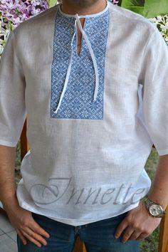 Ukrainian Embroidered Men's Shirt Vyshyvanka  by GLAZDOV on Etsy