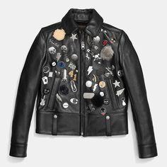 Embellished Racer Jacket - Coach /// SO OBSESSED WITH THIS JACKET