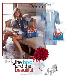 """""""IN DENIM WE TRUST by Fendi"""" by mercanici ❤ liked on Polyvore featuring Fendi, women's clothing, women's fashion, women, female, woman, misses, juniors, denim and fendi"""