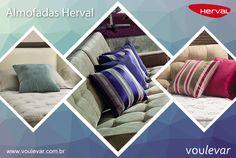 Com vários estilos e cores as almofadas dão um toque especial a sua decoração, é só colocar sua criatividade em prática ! #voulevar #almofadas #decor  #herval