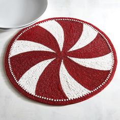 Peppermint Beaded Placemat