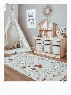 Ikea Kids Playroom, Montessori Playroom, Toddler Playroom, Playroom Design, Toddler Rooms, Playroom Decor, Kids Room Design, Baby Boy Rooms, Little Girl Rooms