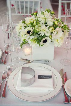 Wedding place setting - white
