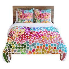 Colorful Rain Bedding. Teens room.