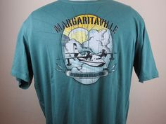Jimmy Buffett Margaritaville  Destination Relaxation Green XXL T Shirt   (A3) #Margaritaville #GraphicTee