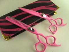 "Professional Salon Hair Cutting Scissors Barber Shears Hairdressing 5.5"" Pink #ScissorsPlus"