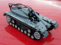 Minifig-Scale Lego Technic Tank with Power Functions by dluders, via Flickr