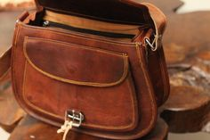 Leather Cross body messenger bag Leather purse by GenuineGoods786....$46.00