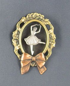 Shadowbox Ballerina Brooch by PINSwithPERSONALITY on Etsy, $18.00