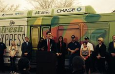 City of Phoenix Mayor, Greg Stanton, at Fresh Express Launch Event on 2-25-14