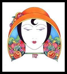 Caroline Smith Art Deco Zodiac * Virgo *