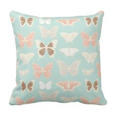 Pretty Butterflies Pattern Throw Pillow - home gifts ideas decor special unique custom individual customized individualized