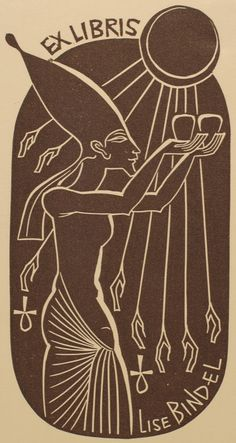 By Rusek, Ladislav for Bindel, Lise http://art-exlibris.net/images/large/exlibris_3214.jpg