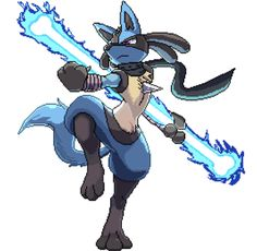 Lucario with a glowing bone Best Pokemon Ever, First Pokemon, My Pokemon, Pokemon Fusion Art, Pokemon Fan Art, Pokemon Images, Pokemon Pictures, Lucario Pokemon, Gamers Anime