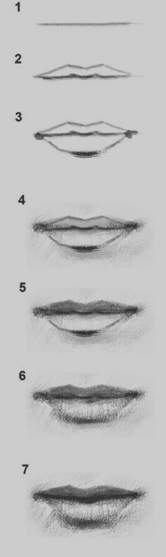 Delineate Your Lips 17 Diagrams That Will Help You Draw (Almost) Anything - How to draw lips correctly? The first thing to keep in mind is the shape of your lips: if they are thin or thick and if you have the M (or heart) pronounced or barely suggested. Drawing Techniques, Drawing Tips, Drawing Sketches, Painting & Drawing, Drawing Faces, Drawing Ideas, Mouth Drawing, Drawing Drawing, Drawing Stuff