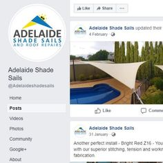 Check out our Facebook page for even more examples of our superior pool shade sail installations.