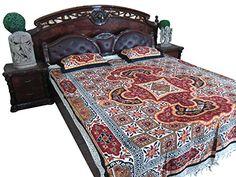 Indian Bedding Inspired Galicha Red Bedspread Tapestry Ethnic Throw Bedcover Mogul Interior http://www.amazon.com/dp/B00RE0DHL8/ref=cm_sw_r_pi_dp_0Zcavb1CEGTEG