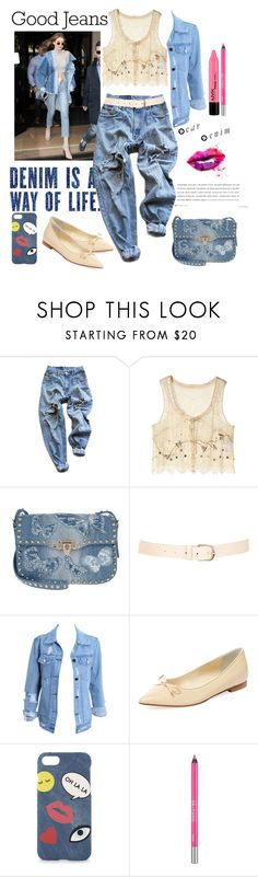 """Good Jeans"" by loves-elephants ❤ liked on Polyvore featuring Levi's, Jill Stuart, Valentino, Maison Boinet, Butter, Iphoria and Urban Decay"
