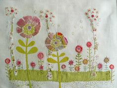 CURRENT WORK LIZ 008 Liz Cookseys Embroideries.  love combination of applique and embroidery!