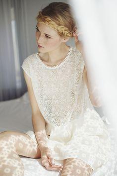 Cute summer wedding dress. Robe Mara ecru - Robes et jupes