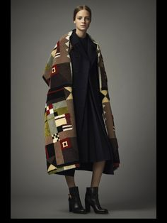 Glorious blanket coat. Valentino Pre-Fall 2014