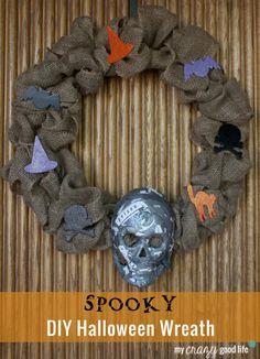 Spooky DIY Halloween Wreath With Decoupage