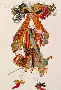 Leon Bakst. Costume of Galisson, the prince's tutor. Sketch. Эскиз костюма Галиссона, наставника Принца.