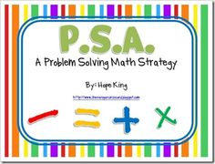 Problem Solving Math Strategy