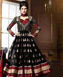 Shop Online for Designer Salwar Kameez in Different Colors like Gray, White, Red, Orange and more. We promise to make you Gorgeous with Designer Salwar Kameez Black Anarkali, Long Anarkali, Anarkali Suits, Indian Dresses, Indian Outfits, Indian Clothes, Salwar Kameez Online Shopping, Designer Anarkali Dresses, Ethnic Wear Designer