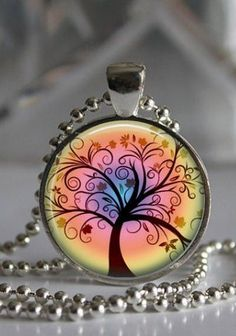 Whimsical Tree of Life Necklace