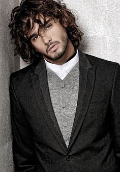 Marlon Teixeira - Male model - Brazil This man needs to stop with his perfect hair and face and jacket. I dont know what is going on with that grey and white shirt thing but who cares with that kind of scruff