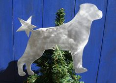 Rottweiler Dog Tree Topper Holiday Decoration by ScreenDoorGrilles, $24.00