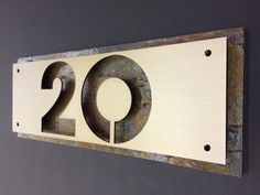 Address Plaque Realtor Closing Gift Modern House Numbers Vertical Bronze Patina,House Numbers Sign VB FREE SHIPPING for a limited time Custom house Address Housewarming gift