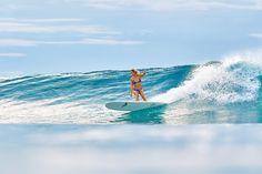 Kelia Moniz cruising the Maldives