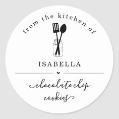 Personalized From the Kitchen of Sticker - home gifts ideas decor special unique custom individual customized individualized Baking Logo Design, Cake Logo Design, Food Logo Design, Logo Food, Brand Identity Design, Branding Design, Corporate Branding, Business Labels, Bakery Business Cards