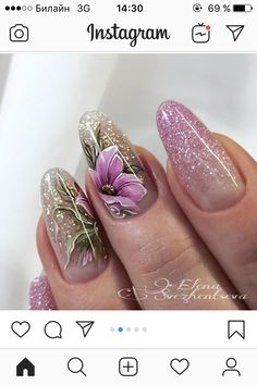 Beautiful Nail Art, Gorgeous Nails, Pretty Nails, Spring Nail Art, Spring Nails, 21st Birthday Nails, Feet Nails, Cute Nail Designs, Flower Nails