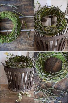 DIY wreath of moss and branches. Moss wreath with branches DIY DIY wreath with . - DIY wreath of moss and branches. DIY moss wreath with branches DIY homemade wreath with moss and br - Moss Wreath, Diy Wreath, Grapevine Wreath, Rainbow Painting, Camping Crafts, Arte Floral, Diy Makeup, How To Make Wreaths, Diy Videos