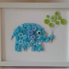 Button art #DIY #NURSERY