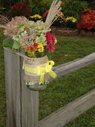 fence post wedding decorations - Google Search