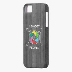 Love it! This I Shoot People - Colorful Camera Shutter Wood iPhone 5 Case is completely customizable and ready to be personalized or purchased as is. It's a perfect gift for you or your friends.
