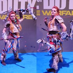 Myself as Aloy from upcoming Horizon Zero Dawn game during Warsaw Games Week  #HorizonZeroDawn #Aloy #cosplay #warsawgamesweek #playstation