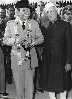 Sukarno & Jawaharlal Nehru
