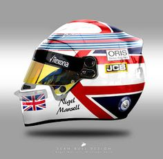 Racing Helmets Garage: Photo - Bell Historical Liveries by Sean Bull Design Racing Helmets, F1 Racing, Jody Scheckter, Nigel Mansell, Bike Illustration, Helmet Paint, Helmet Design, Karting, Car Wheels