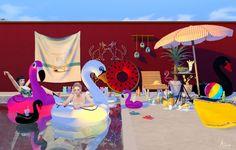 Pool poses N1 at Kiru via Sims 4 Updates Check more at http://sims4updates.net/poses/pool-poses-n1-at-kiru/