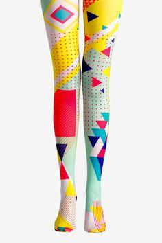 Viken Plan Colorful Design Pantyhose