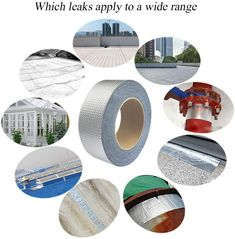 Sealed Waterproof Aluminum Foil Self Adhesive Butyl Rubber Tape Repair for Building Crack Roof Butyl Rubber, Adhesive, Seal, Tape, Building, Projects, Log Projects, Blue Prints, Buildings