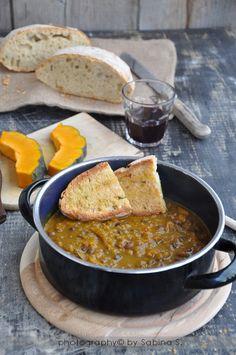 Zuppa di azuki e zucca