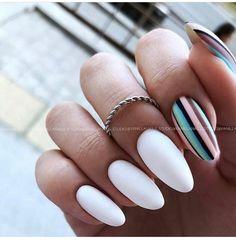 Stylish Nails, Trendy Nails, Nail Design Stiletto, Oval Nails, Fire Nails, Minimalist Nails, Yellow Nails, Dream Nails, Fabulous Nails